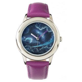 カスタムなステンレス鋼の紫色 腕時計
