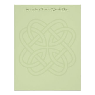 カスタムなセージグリーンのケルト族の結婚式の文房具 レターヘッド