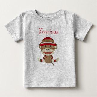 カスタムなソックス猿のベビーシャワーのギフトの衣類 ベビーTシャツ