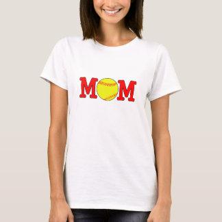 カスタムなソフトボールのお母さんのTシャツ Tシャツ
