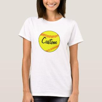 カスタムなソフトボールのTシャツ Tシャツ