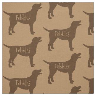 カスタムなチョコレート実験室犬の生地 ファブリック