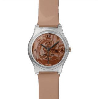 カスタムなチョコレート腕時計はあなたの文字を加えます 腕時計