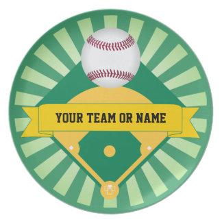 カスタムなチーム名前の緑の野球場 プレート