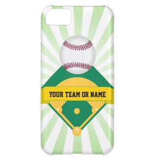 カスタムなチーム名前の緑の野球場 iPhone5Cケース