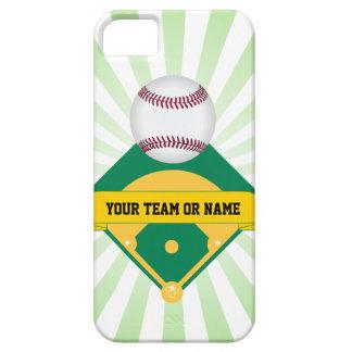 カスタムなチーム名前の緑の野球場 iPhone SE/5/5s ケース