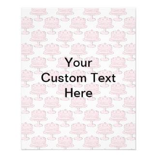 カスタムなテキストが付いているピンクのケーキパターン チラシ