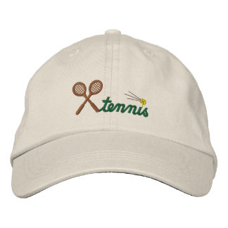 カスタムなテニスによって刺繍される帽子 刺繍入りキャップ