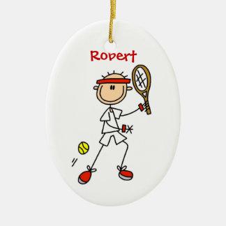カスタムなテニスのクリスマスのオーナメント セラミックオーナメント