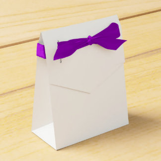 カスタムなテントの好意箱(紫色のリボン) フェイバーボックス