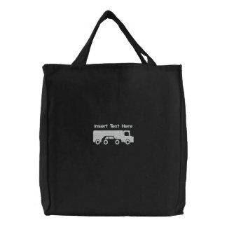 カスタムなトラック運転手はバッグを刺繍しました 刺繍入りトートバッグ