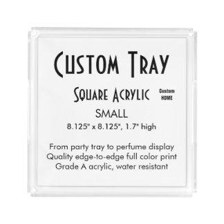 カスタムなトレイ-アクリルの小さい正方形 アクリルトレー