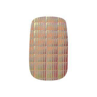 カスタムなネイルアート-金正方形 ネイルシール