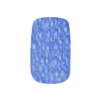 カスタムなネイルアート-青いペンキは効果泡立ちます ネイルアート