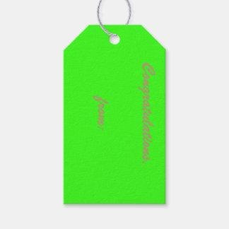 カスタムなネオン緑のギフトのラベルの10パック ギフトタグパック