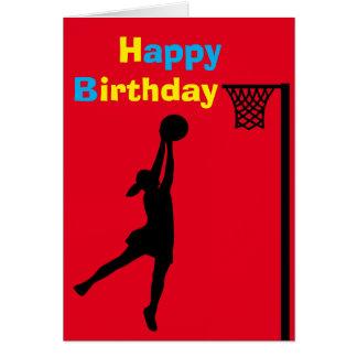 カスタムなネットボールプレーヤーの誕生日 カード