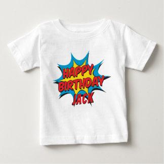 カスタムなハッピーバースデー%PIPE%のTシャツ ベビーTシャツ