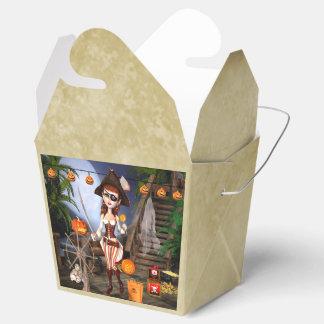 カスタムなハロウィンの海賊女の子は好意箱を取ります フェイバーボックス
