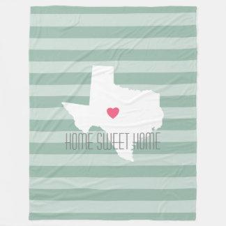 カスタムなハートのテキサス州の故郷の州愛 フリースブランケット
