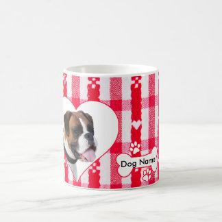 カスタムなハート形のボクサー犬のコーヒーカップのマグ11のoz コーヒーマグカップ