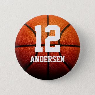 カスタムなバスケットボール数 缶バッジ