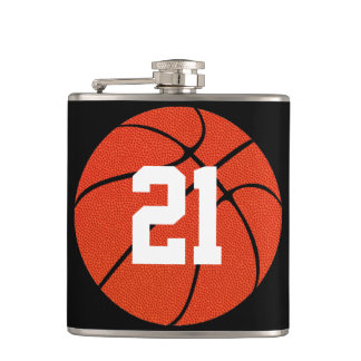 カスタムなバスケットボール選手のジャージー数スキットル フラスク