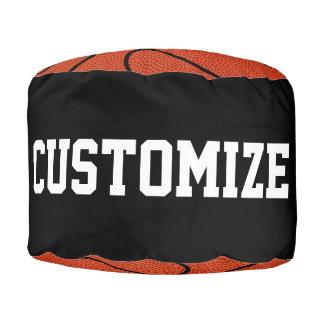 カスタムなバスケットボール選手のラウンドパフのお手玉の椅子 プーフ