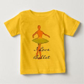 カスタムなバレエのギフト|のダンスのTシャツ ベビーTシャツ