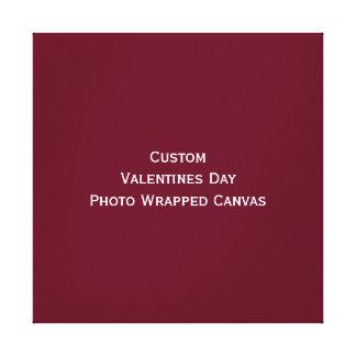 カスタムなバレンタインデーの写真のキャンバスプリントを作成して下さい キャンバスプリント