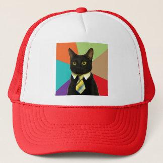 カスタムなビジネス猫の帽子 キャップ