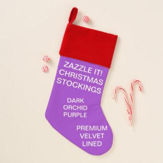 カスタムなビロードによって並べられる紫色のクリスマスのストッキング クリスマスストッキング
