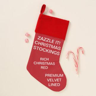 カスタムなビロードによって並べられる赤いクリスマスのストッキング クリスマスストッキング