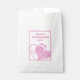 カスタムなピンクのハートの好意のバッグ フェイバーバッグ