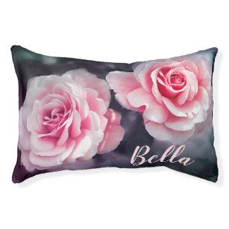 カスタムなピンクのバラの花柄の写真