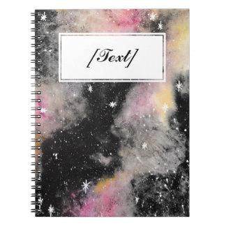 カスタムなピンクの銀河系 ノートブック