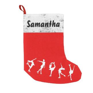 カスタムなフィギュアスケート選手のストッキング スモールクリスマスストッキング