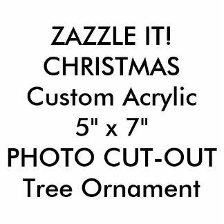 カスタムなフォトスカルプチャーのクリスマスツリーのオーナメント 写真彫刻オーナメント