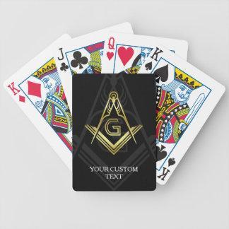 カスタムなフリーメーソンのポーカーカード|のフリーメーソン会員のギフト バイスクルトランプ