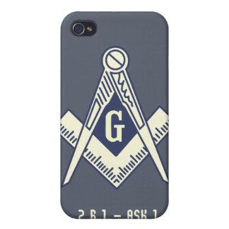 カスタムなフリーメーソンの青いロッジのiPhoneの箱 iPhone 4/4S ケース