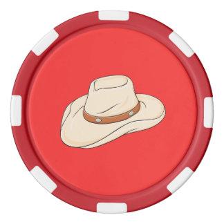カスタムなブラウンのボロのカーボーイ・ハットのトランプの枕 ポーカーチップ