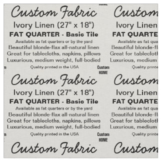 カスタムなプリントのアイボリーの麻布、FATの四分の一タイル ファブリック