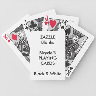 カスタムなプリントBicycle®の黒く及び白いトランプ バイスクルトランプ