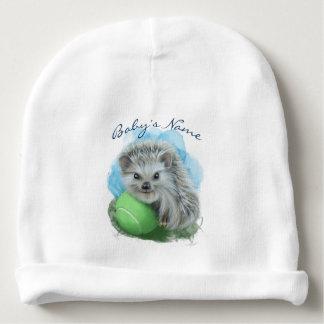 カスタムなベビーの綿の帽子-よくはしゃぐなハリネズミ ベビービーニー