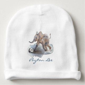 カスタムなベビーの綿の帽子-よくはしゃぐな象 ベビービーニー
