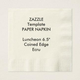 カスタムなベージュ色によって鋳造される昼食会の紙ナプキンのテンプレート 縁ありランチョンナプキン