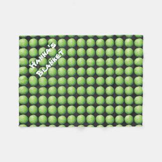 カスタムなペットテニス・ボールパターン フリースブランケット