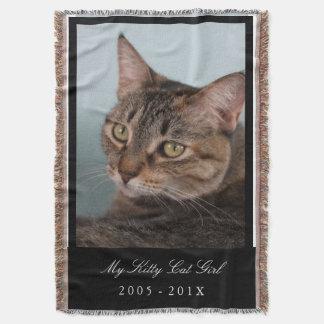 カスタムなペット毛布-あなたのペット記念物 スローブランケット