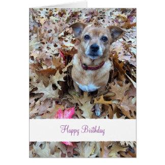 カスタムなペット(犬)写真およびメッセージ カード