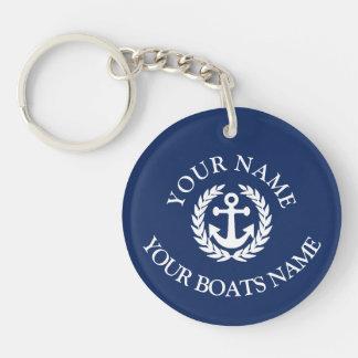 カスタムなボートの名前の航海のないかり キーホルダー