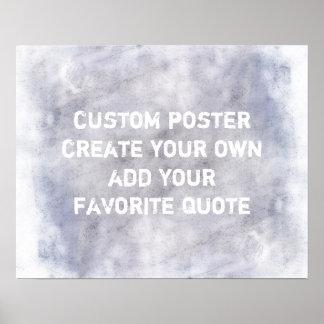 カスタムなポスターはあなたの引用文のぼろぼろのシックなスタイルを加えます ポスター
